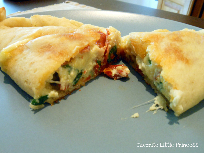 Favorite Little Princess: Spinach, Ricotta, and Tomato Calzones