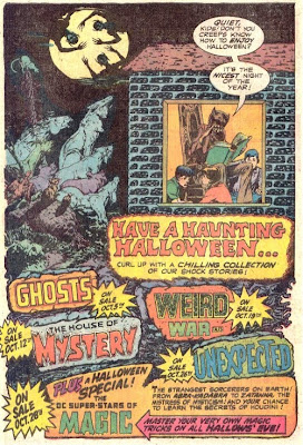Haunting Halloween 1977 ad from DC Comics