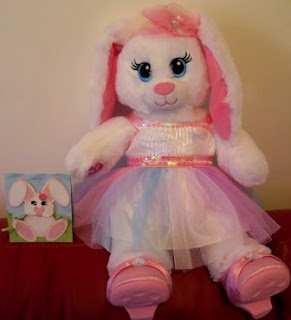 Build a bear bunny and card by Zena Kennedy Independent Stampin Up demonstrator