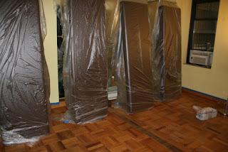 Sandless Hardwood Floor Refinishing Before