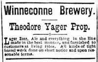 An 1871 ad for the Winneconne Brewery