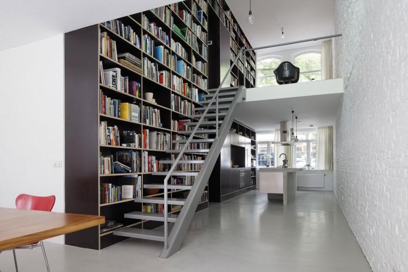 Loft dise o y planos de una moderna casa construye hogar for Bibliotheques murales contemporaines