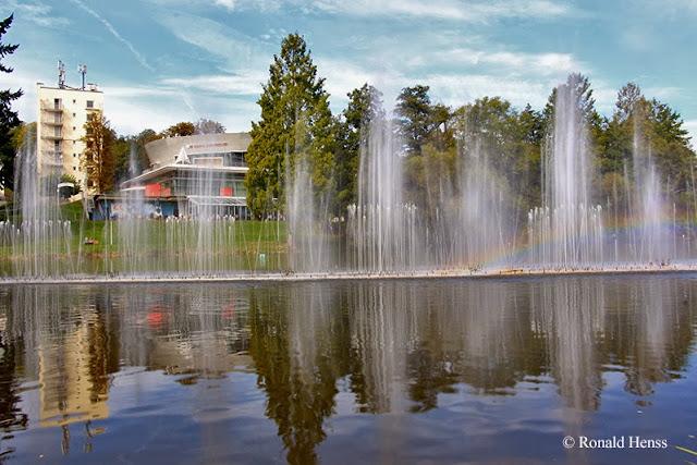 Wasserorgel und Spielbank  im Deutsch-Französischen Garten Saarbrücken