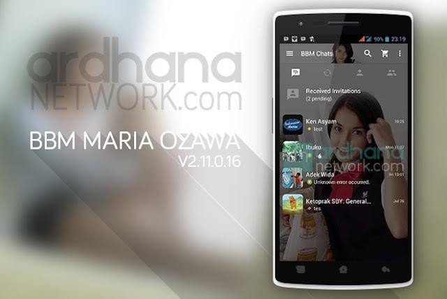 BBM Maria Ozawa - BBM Android V2.11.0.16
