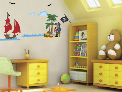Decorar la habitaci n de los ni os con pegatinas para for Pegatinas pared ninos