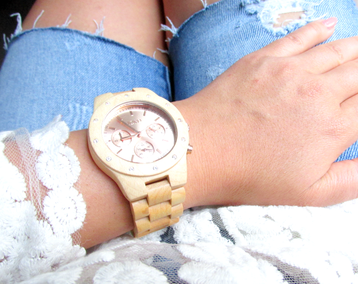 Jord Wood Watches - Sidney Maple & Rose Gold