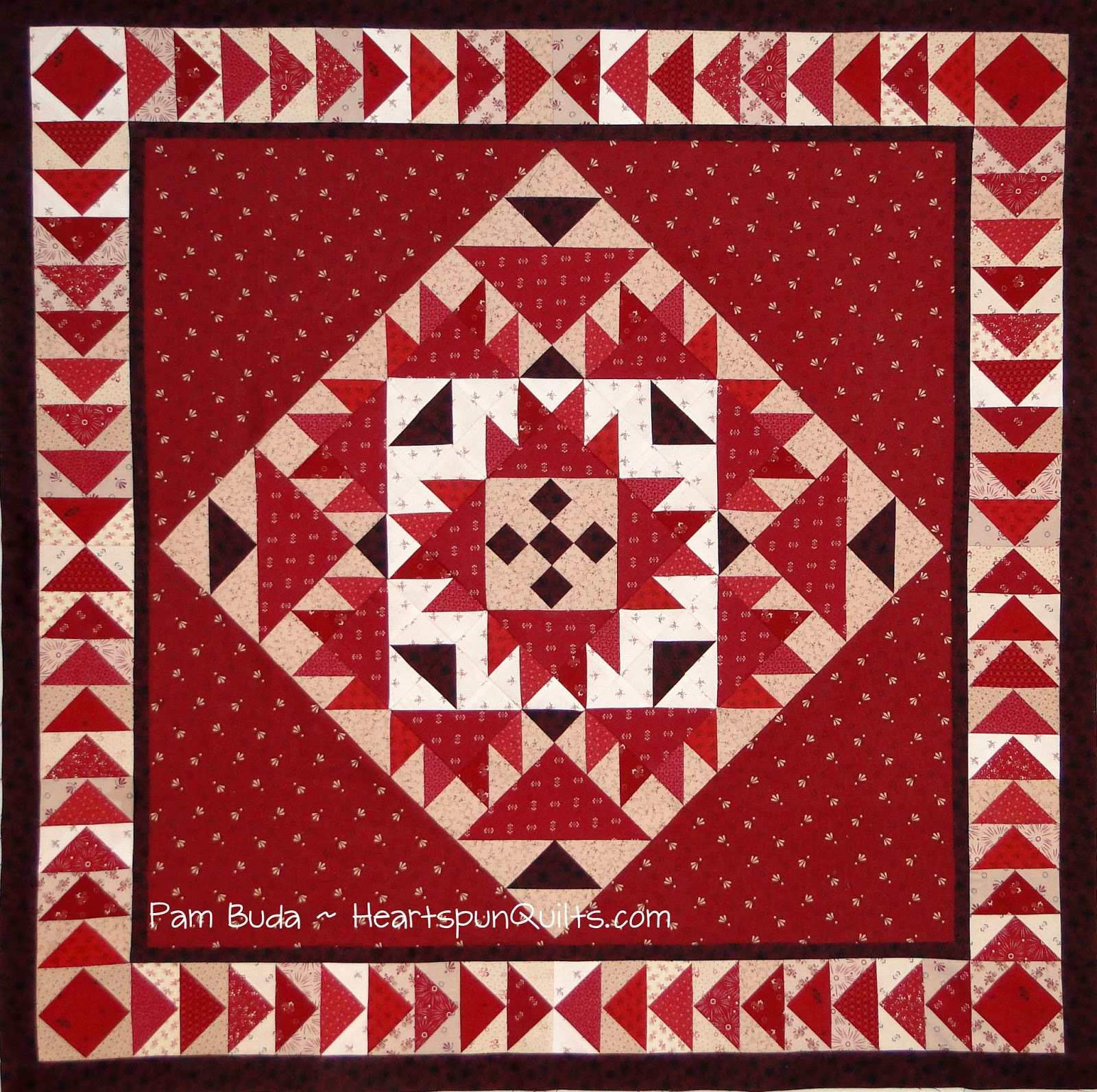 Heartspun Quilts ~ Pam Buda: Prairie Gathering Quilt of the ... : pieced borders for quilts - Adamdwight.com