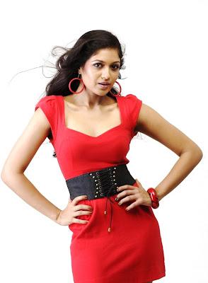 Meghana raj in red dress