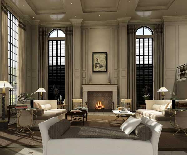 Yazmyne Emeralde Interior Design Blog Use of Line in a Living Room