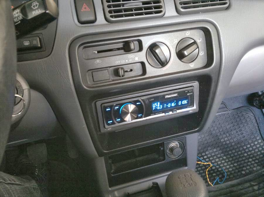My starlet ep91 1997 connecting car stereo in toyota starlet well finally everything work like it should pioneer stereo with usb in the toyota starlet asfbconference2016 Images