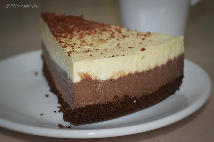 BPHouseWife: Triple Layer Chocolate Cheesecake Recipe (step by step ...