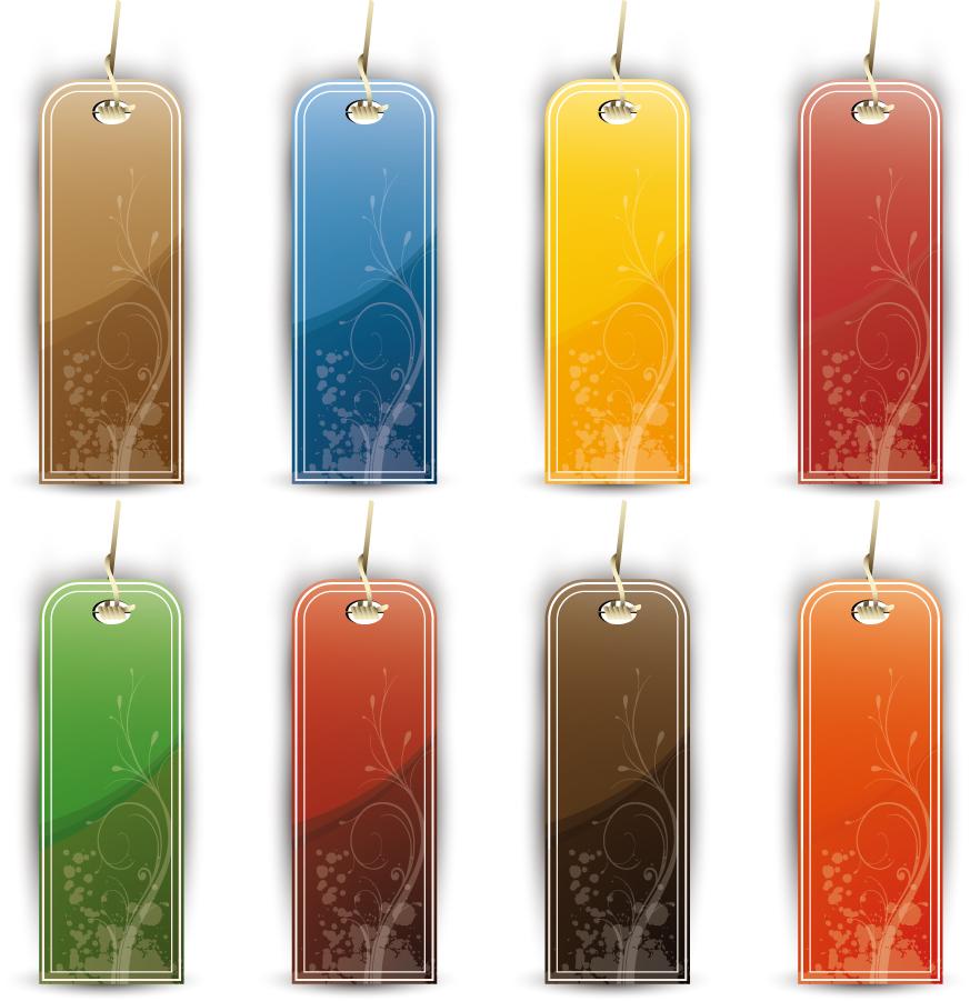 カラフルなタグのデザイン見本 Colorful Tags and Labels イラスト素材