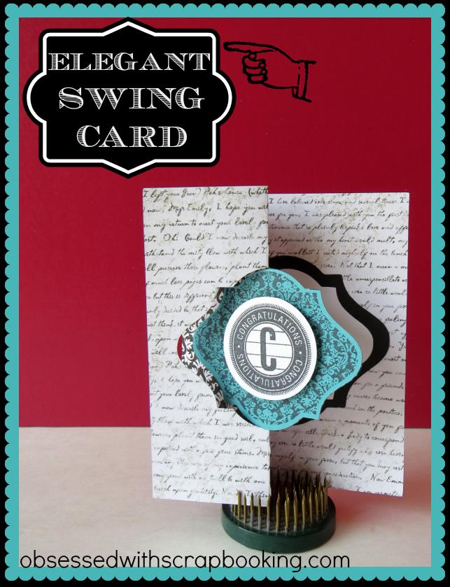 Obsessed With Scrapbooking Videoartiste Cricut Fancy Swing S Fold
