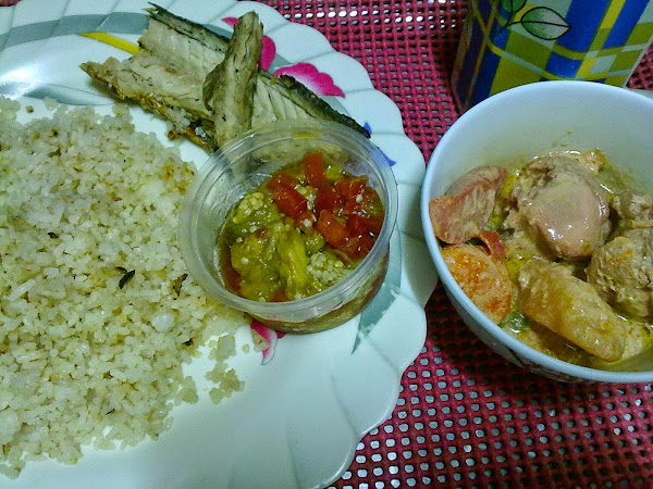 dada's meal fish, cold side and chicken