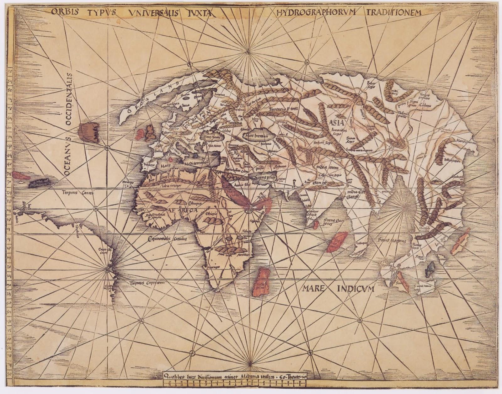 Ancient World Maps World Map 16th Century