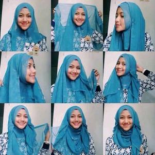Contoh 6. Model dan Kreasi Hijab Paris Modern Terbaru 2015