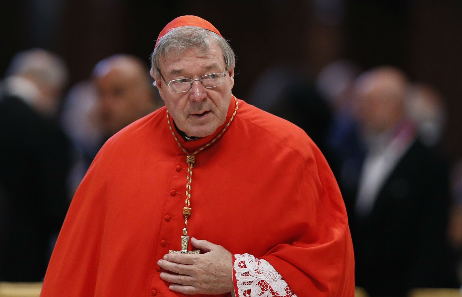 CARDINAL GEORGE PELL: SENT AWAY TO PRISON FOR SIX YEARS.