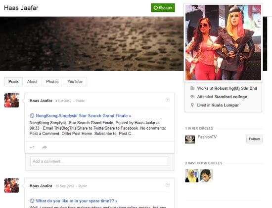 blogger profile - haas jaafar