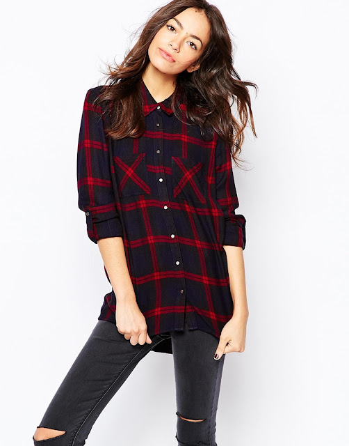 new look tartan shirt, checked brushed shirt,