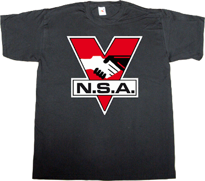 nsa big brother george orwell useless Politics freedom technology t-shirt ephemeral-t-shirts
