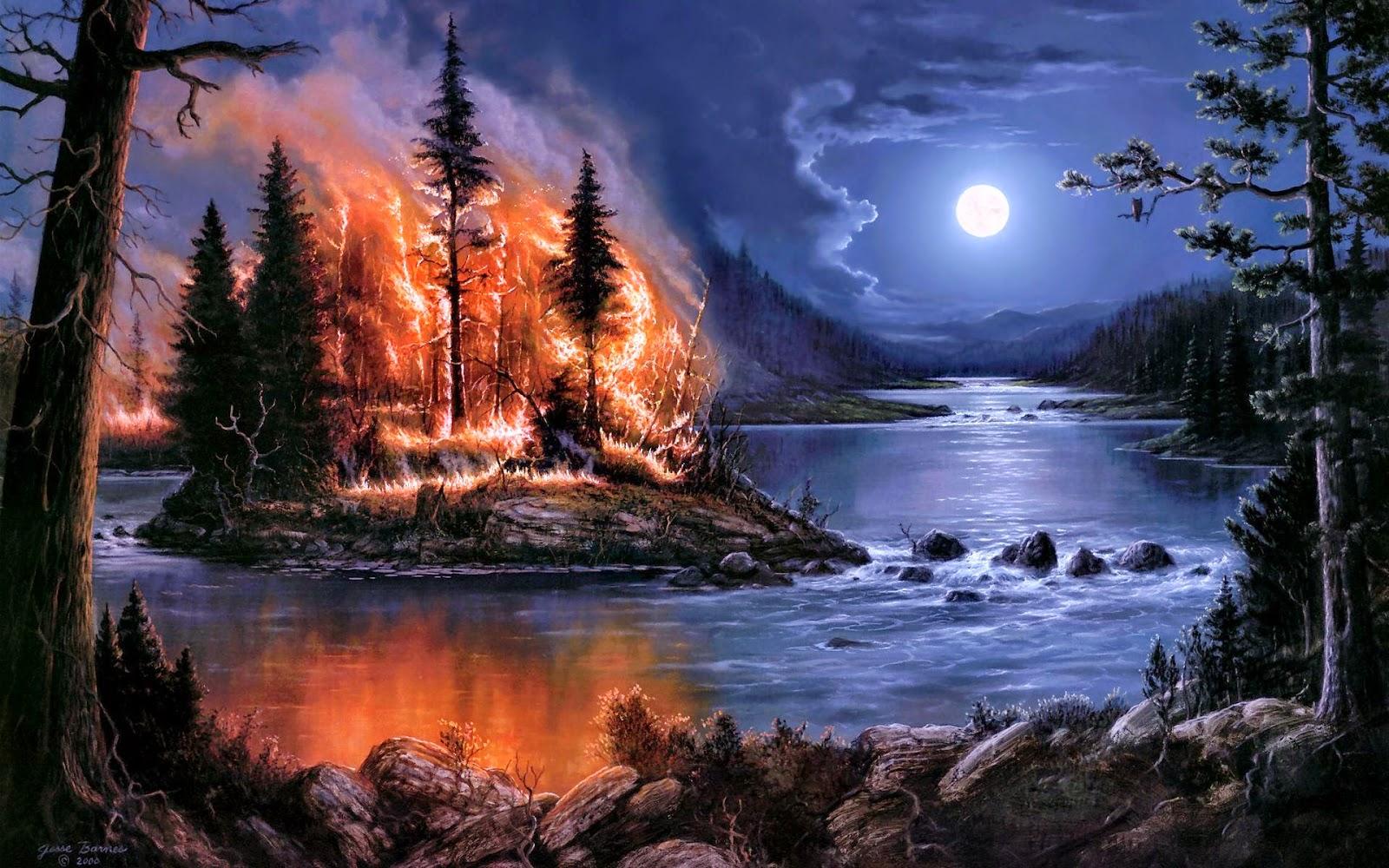 Tree-burns-at-night-near-stream-poetic-wallpaper-painting.jpg