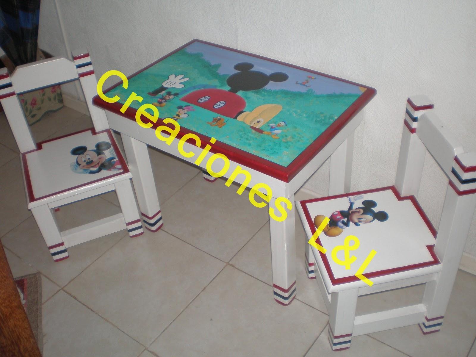 Mi rinc n de las artesanias mesa y sillas para chicos for Sillas para chicos