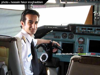 """خلبان ایرانی""""حسین فکورمقدمبا یک هواپیمای فوق سبک نیمکره زمین تا قطب را با پیام ❞خلیج همیشه فارس❝ پر"""