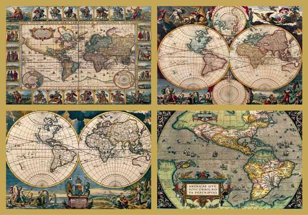Historic World Maps Ravensburger Puzzle Momma - 4 piece world map