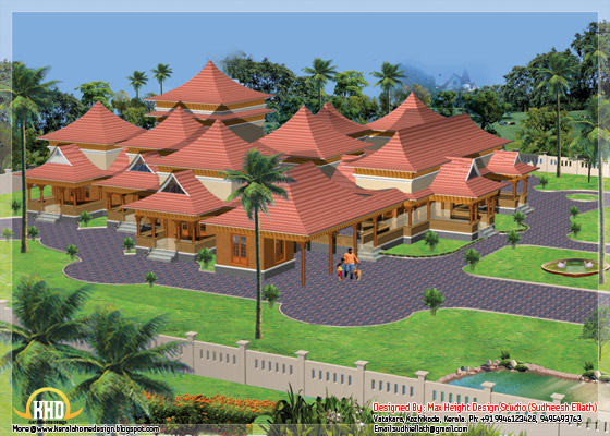 8000 square feet luxury mansion in Kerala