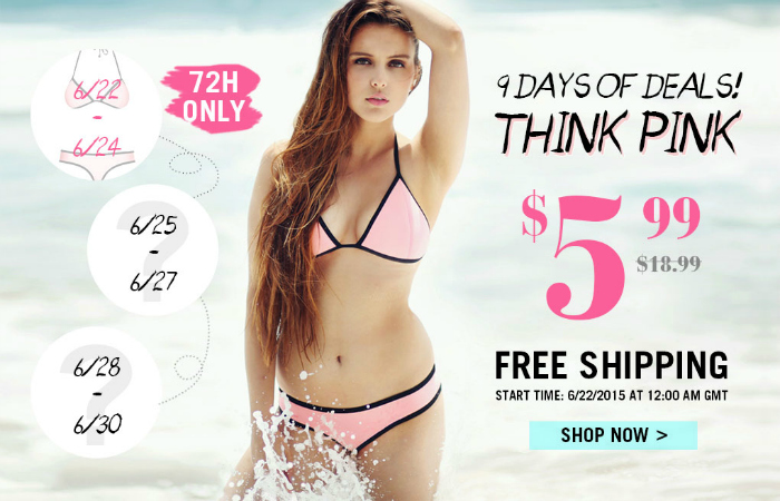 Pink Halter Bikini