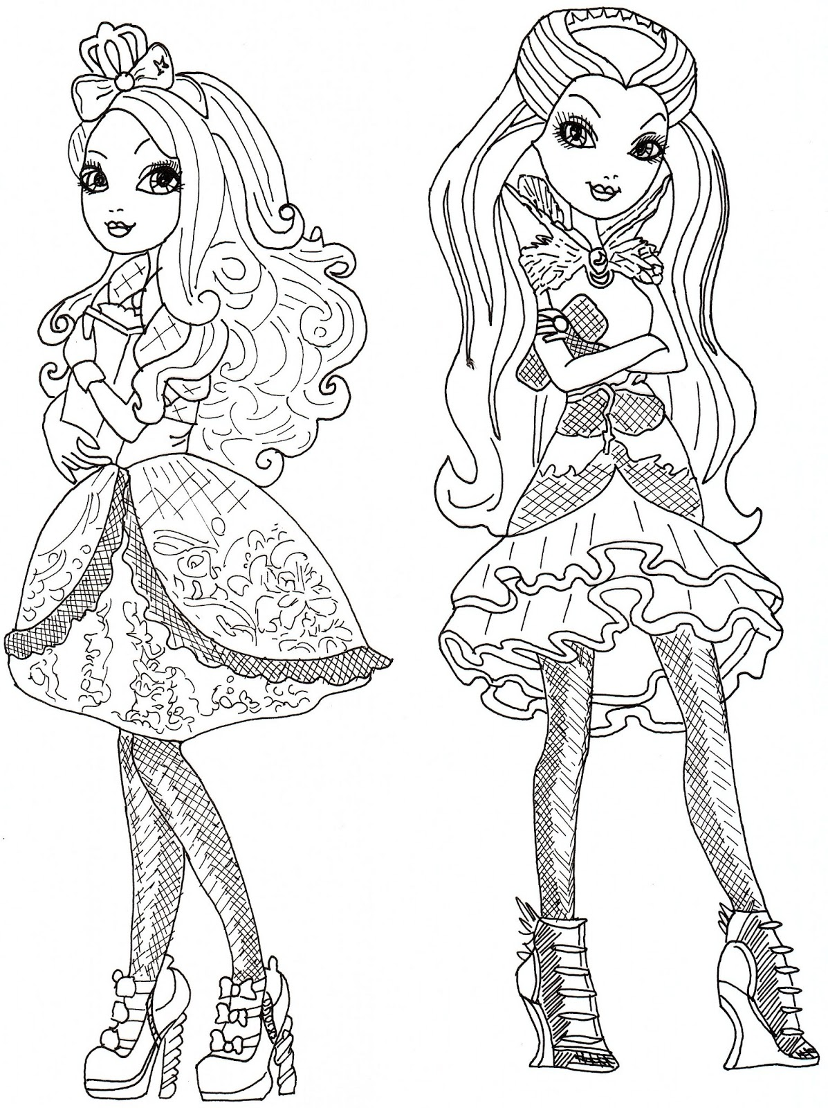 Free printable ever after high coloring pages june 2013 for Raven coloring pages