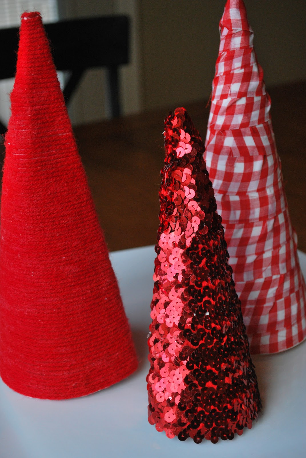 Larissa Another Day: Poster Board Cone Christmas Trees