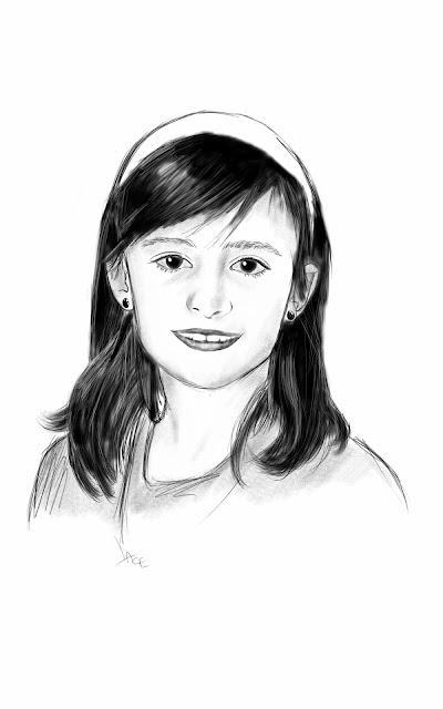 dessin jeune fille samsunga galaxy note esquisse portrait lace
