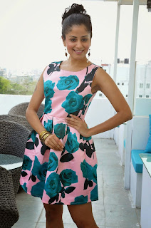 Anukriti Govind Sharma in very Tiny Small Flower Print Pink Frock amazing Cute Beauty