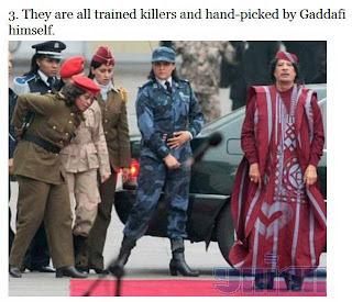muammar algaddafi female bodyguards 03 Foto foto 40 Perawan Pengawal Pribadi Muammar Qadhafi