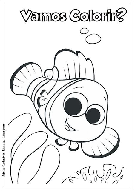 Procurando o Nemo desenho para colorir