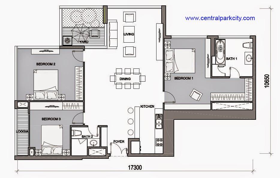 Vinhomes Central Park Penthouse - Căn Vinhomes Penthouse số 08 tầng 46 - 3PN - 145.5m2