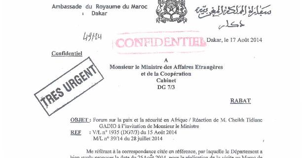 Diaspora saharaui moroccoloeaks au maroc cheikh - Cabinet du ministre des affaires etrangeres ...