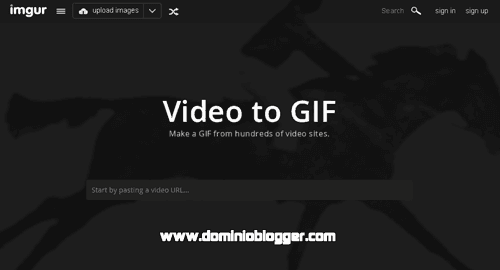 Crea GIFs animados usando videos de Youtube en Imgur Video To Gif