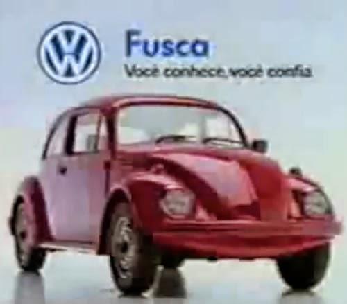 Campanha da volta do Fusca ao mercado de automóveis, em 1993.