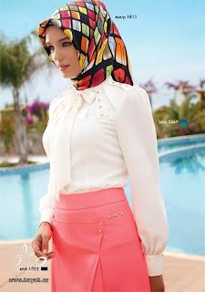 صور ملابس محجبات 2014 تركية