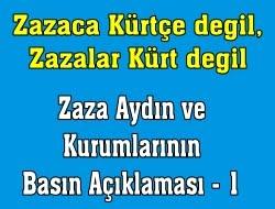 Türkler, Kürtler, Zazalar, Gerçekler ve Zazaki Zazaistan