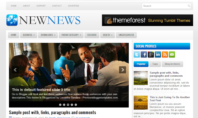 news news blogger template 25+ Best Free Magazine Blogger Templates for 2013 Download