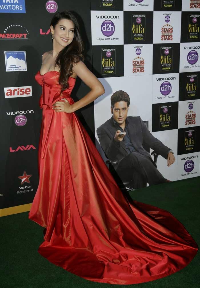 Gauahar Khan in Ken Ferns gown at IIFA 2014