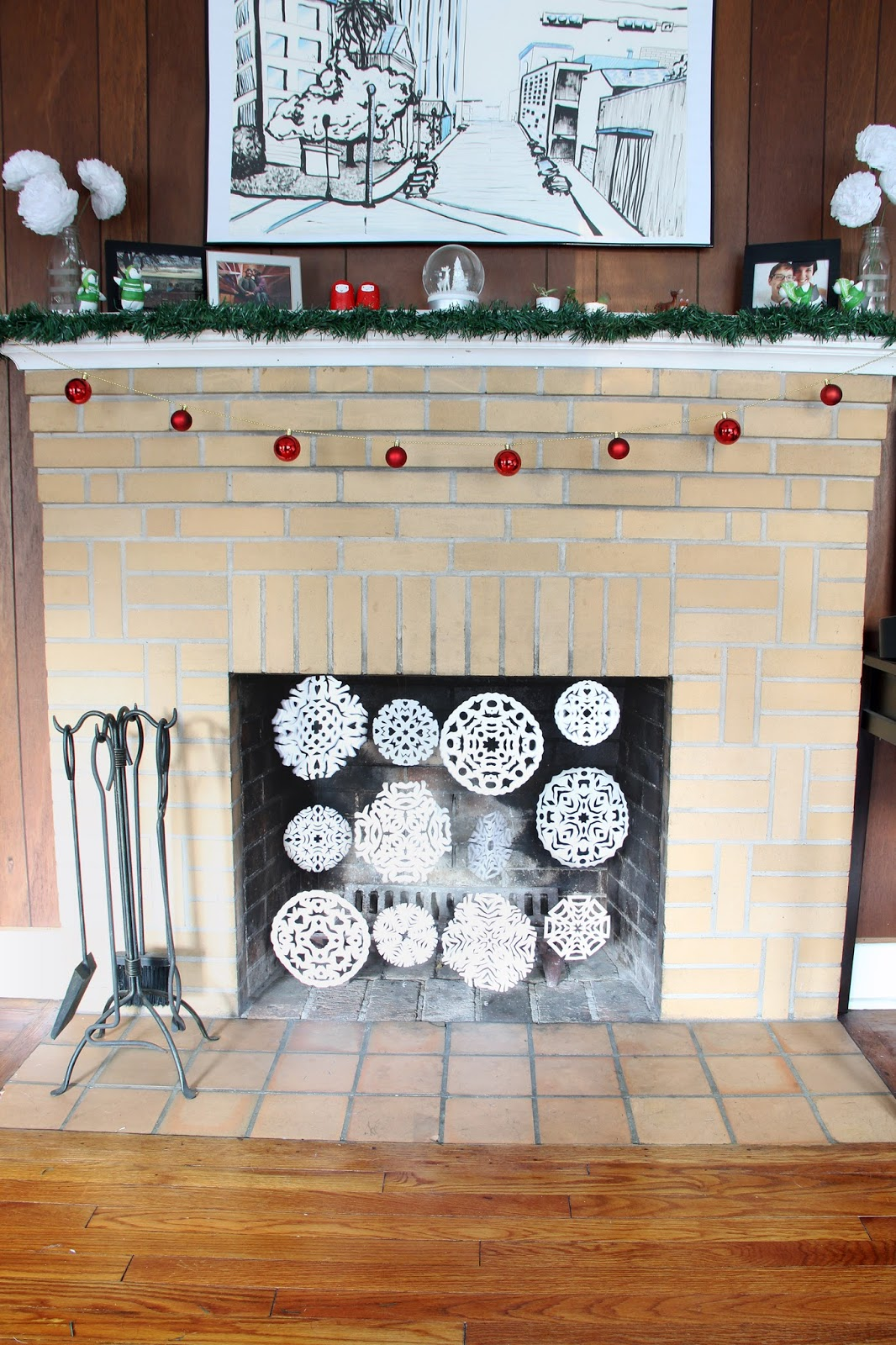 Let It Snow Fireplace Screens