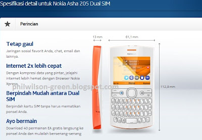 HP Nokia Murah Dual SIM Nokia Asha 205