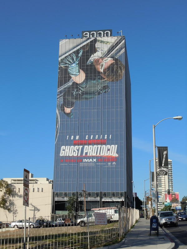 Giant Tom Cruise Ghost Protocol billboard