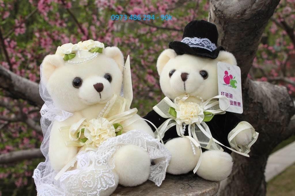 gấu bông cô dâu chú rể