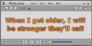 Screenshot MiniLyrics