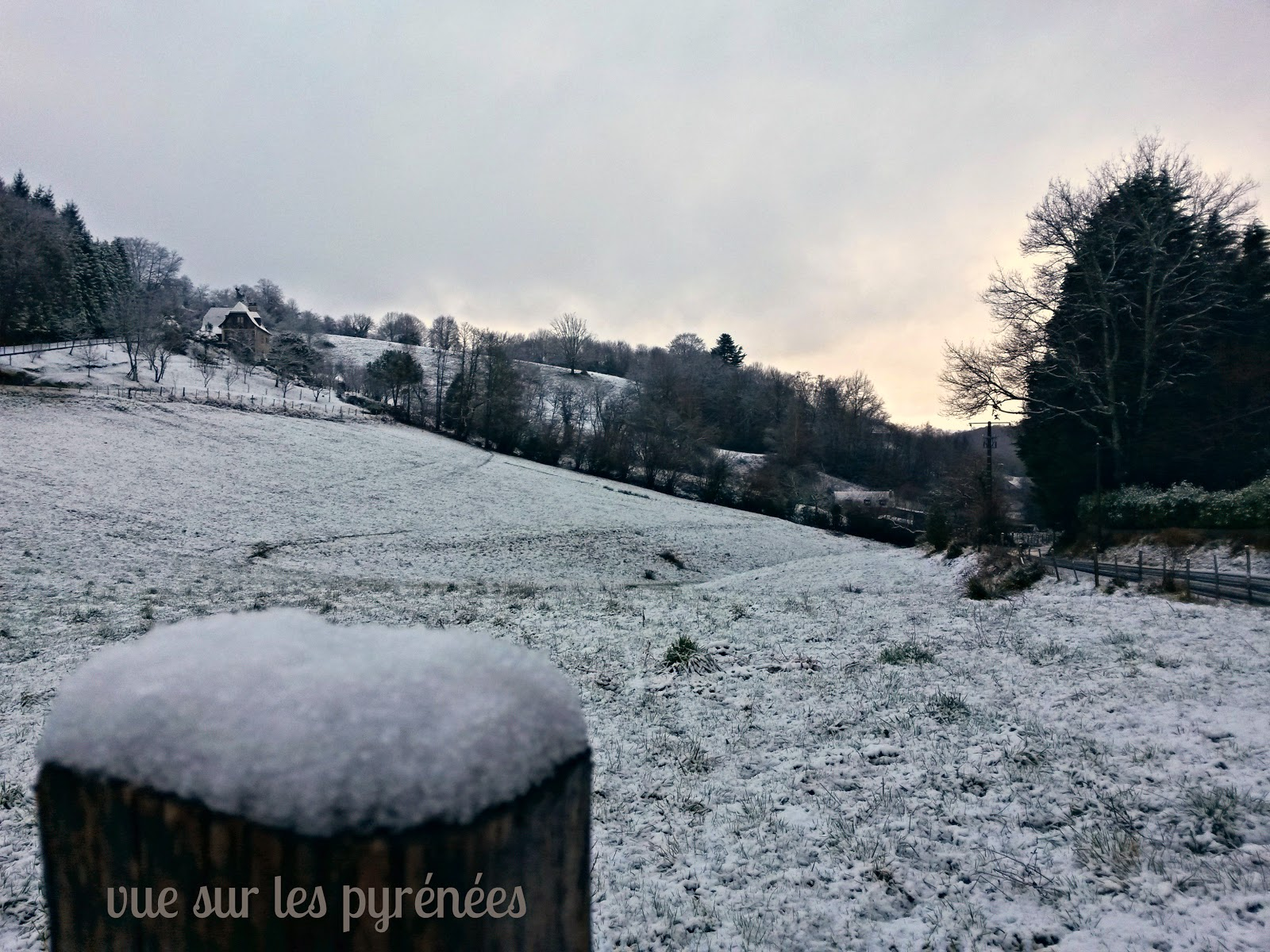 neige en béarn 2015